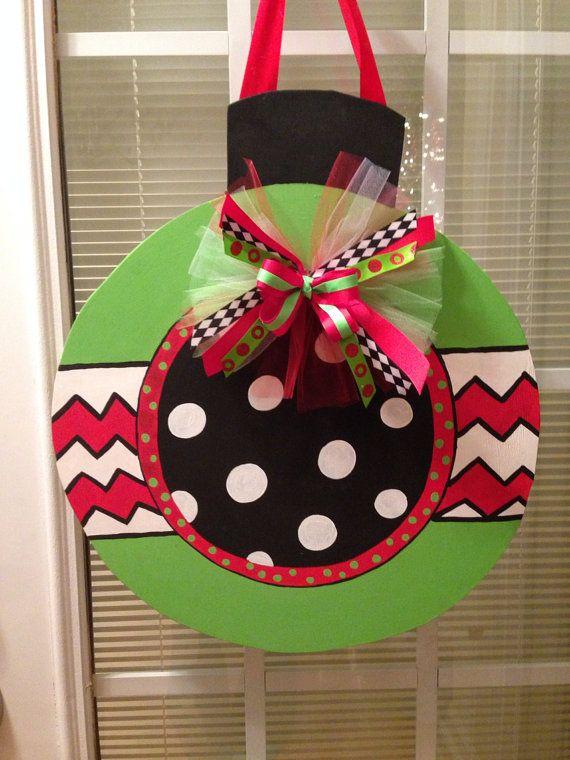106 best Christmas Ball Door Hangers images on Pinterest
