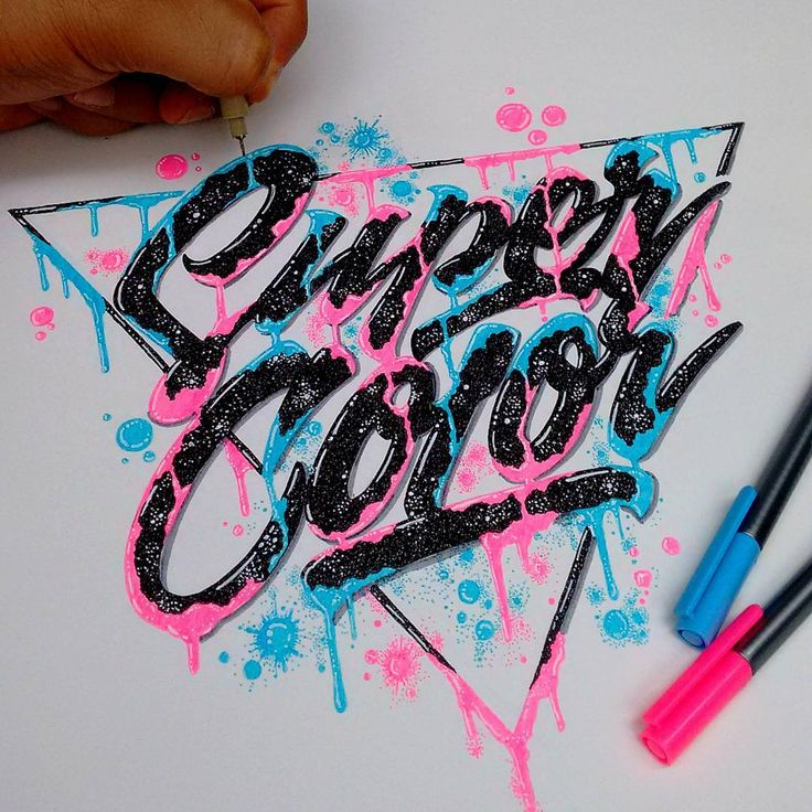 Today I want to give full credit to my new personal favorite neon fineliner…