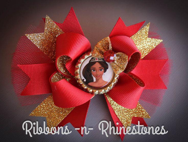 Princess Elena of Avalor Bow, Princess Elena Boutique Hair Bow, Princess Elena Bow, Elena Birthday, Elena Bow, Elena costume, Hair Bows by RnRshairbowsandmore on Etsy https://www.etsy.com/listing/452229760/princess-elena-of-avalor-bow-princess