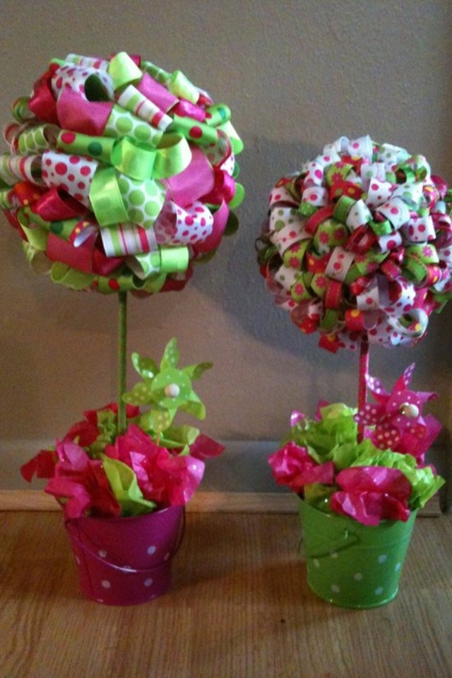 Best images about ribbon topiary on pinterest