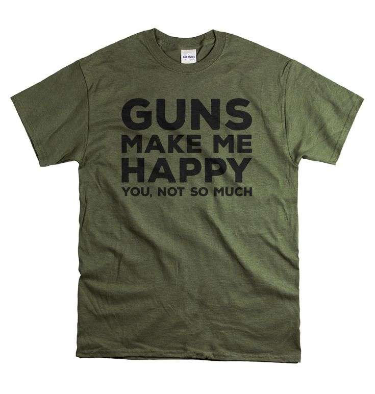 Gun Shirt for Dad Father's Day Gifts for dad  - Guns Make Me Happy - Gun Gift for Husband - Gifts for Gun Lovers - Right to bear Arms tee by YetiTees on Etsy https://www.etsy.com/listing/385002490/gun-shirt-for-dad-fathers-day-gifts-for