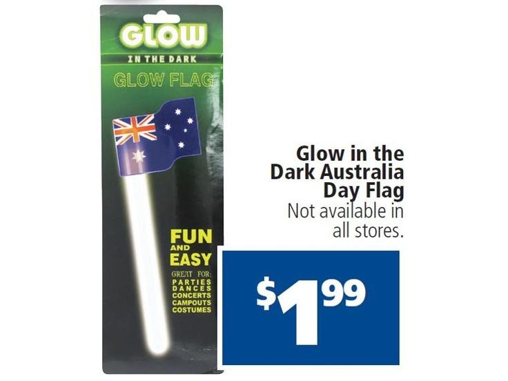 Glow In The Dark Australia Day Flag