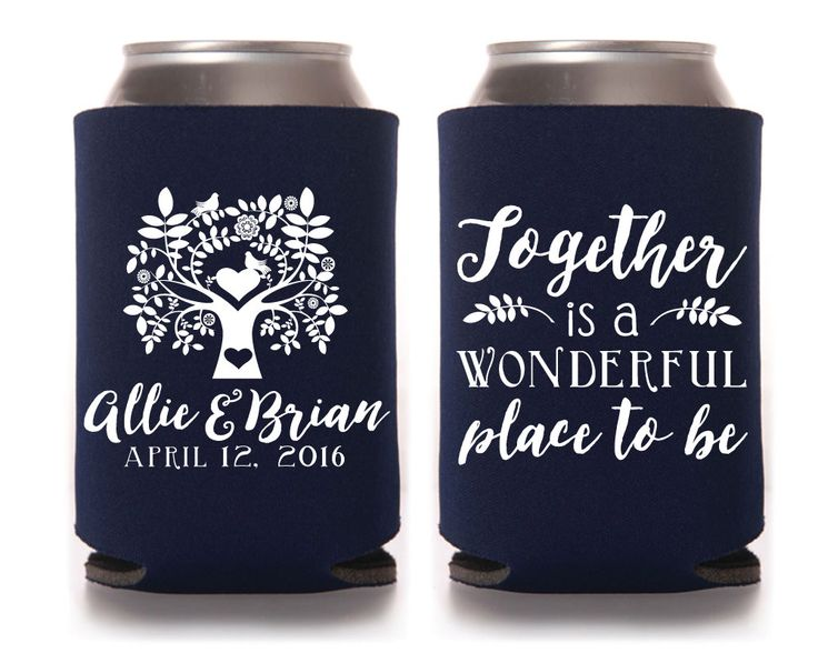 1000 Ideas About Wedding Koozies On Pinterest Favors