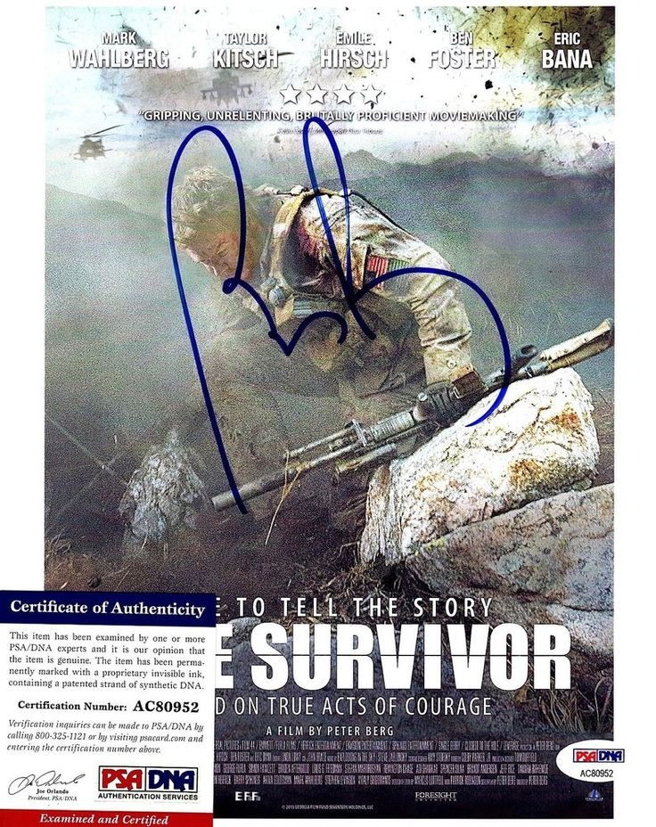 "PETER BERG Signed 8X10 Photo ""LONE SURVIVOR""  Director, Actor PSA/DNA #AC80952"