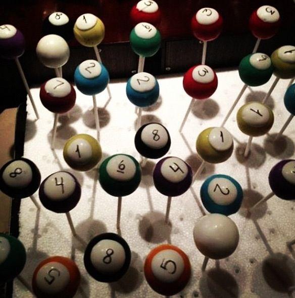 Billiard Cake Pops
