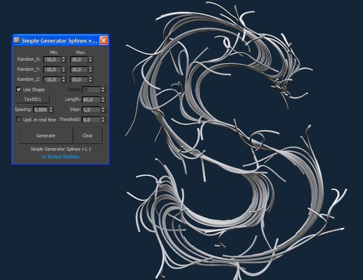 Simple Generator Splines v1.1 | ScriptSpot
