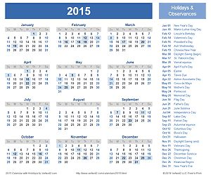 Free Calendars for printing and excel www.vertex42.com