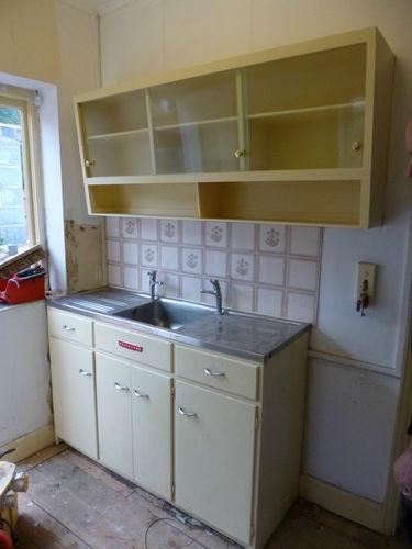 Easiclene retro vintage kitchen cupboard and sink unit   eBay