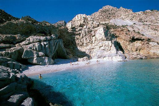 Seychelles Beach in Ikaria Island,Greece