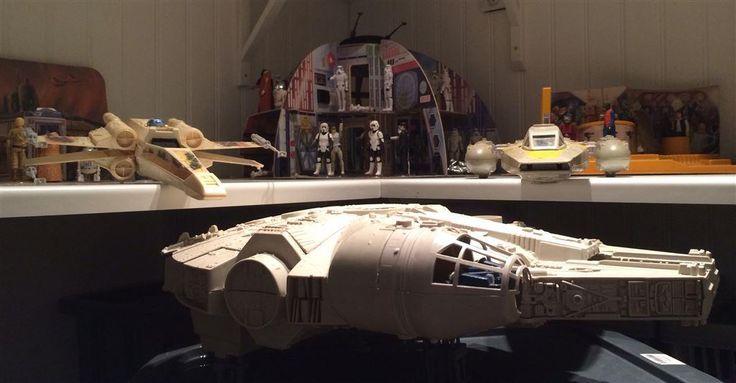 Star Wars Vintage Millenium Falcon, X-Wing samt Y-Wing på Tradera.com -