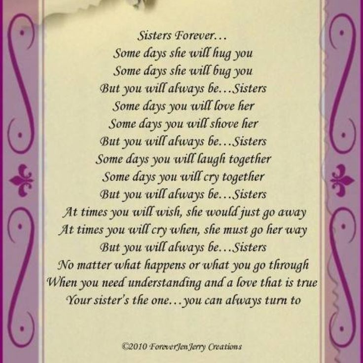 Happy Birthday Poems From Brother To Sister - Yahoo Image Search Results