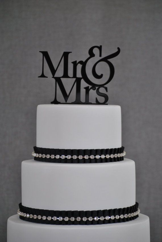 Wedding Cake Topper Mr And Mrs By ChicagoFactory 1500