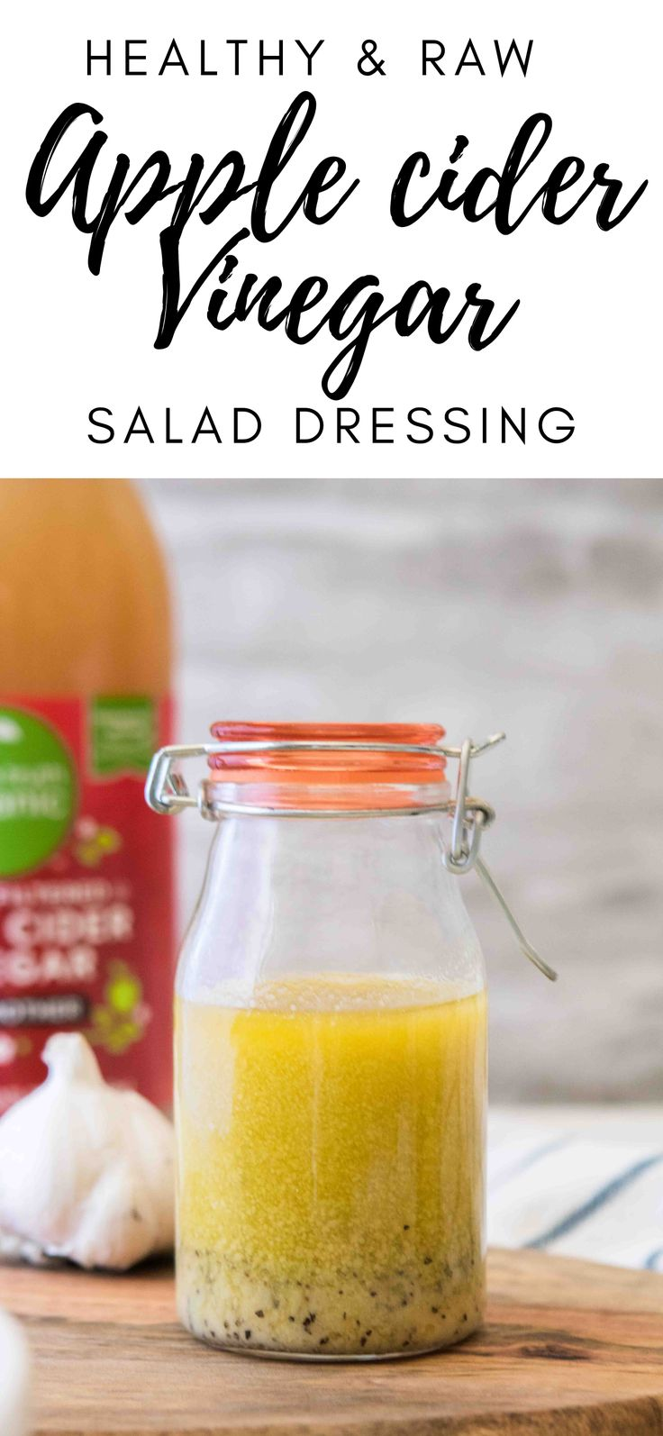 This healthy apple cider vinegar dressing is an easy and healthy kitchen staple in my house. It will make your salad tas…