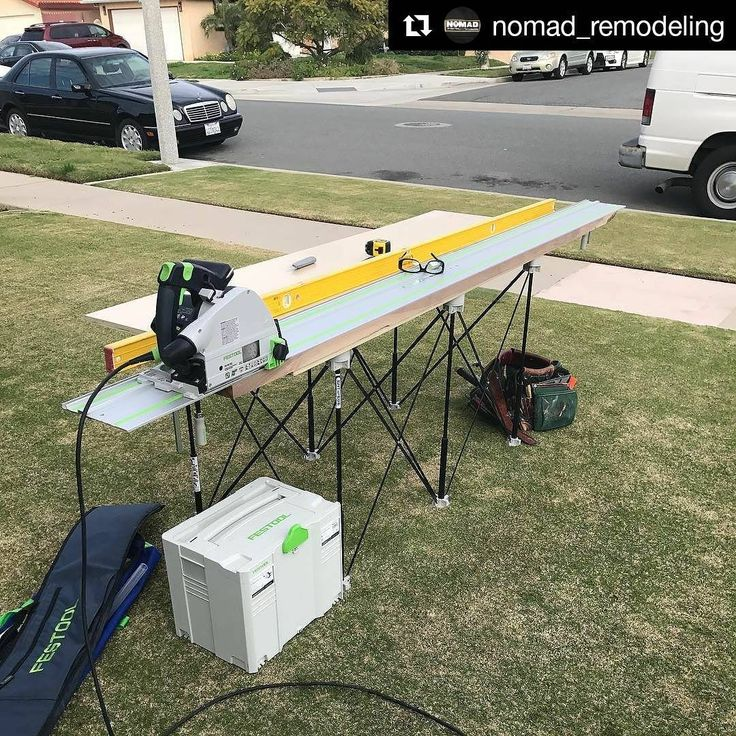 Front yard #CentipedeSupport tracksaw stand gets @nomad_remodeling off the ground while milling walnut boards on the jobsite. Repost:Sneaking in some Saturday milling while there's a break in the rain, time to put an edge on this 6/4 Walnut. @festool_usa @festool @centipedetool @stabilausacanada #carpentry #carpenter #bathroomremodel #bathroom #kitchenremodel #kitchendesign #kitchen #renovate #renovations #renovation #remodeling #remodel #constructionlife #construction #generalcontractor
