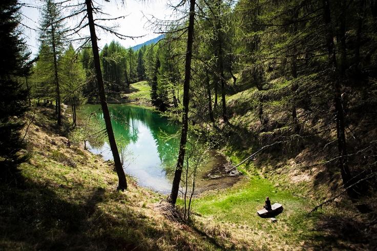 Uno specchio d'acqua dai mille colori - Ein Wasserspiegel mit tausend Farben (See Lago delle Prese – Roncegno Terme)