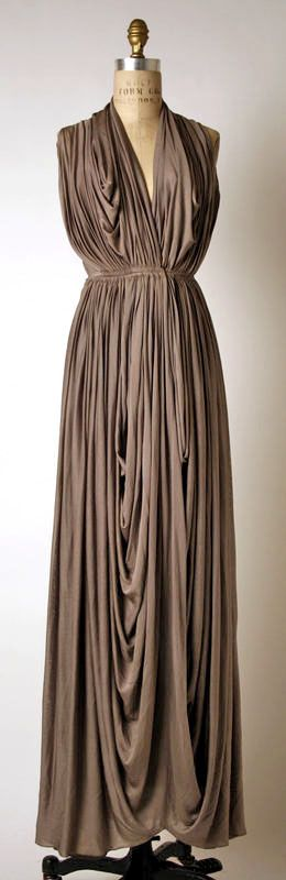 Grès Silk Dress - 1937 - by Madame (Alix) Grès (French, 1903 -1994) - @~ Watsonette