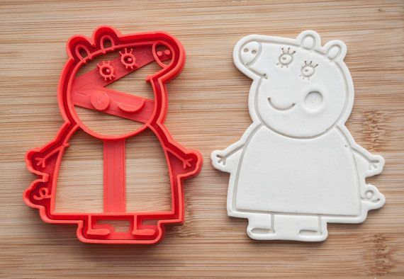 SALE Peppa Pig Family. Peppa Pig cartoon. от CoolCookiesCutters