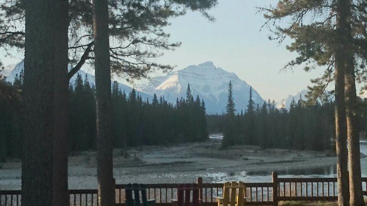 View from cabin at Becker's Chalets Jasper AB