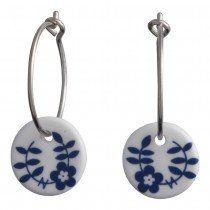 Andersen Finest Porcelain Hoop Earrings NATURE 399 086