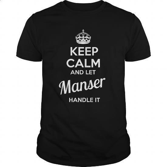 MANSER - #unique gift #housewarming gift. CHECK PRICE => https://www.sunfrog.com/LifeStyle/MANSER-100223522-Black-Guys.html?60505