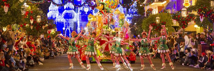 The Disney Parks Blog is the best place to stay up to date with all things Disney ~ love this magical picture of Mickey's Once Upon A Christmastime Parade at Magic Kingdom Park