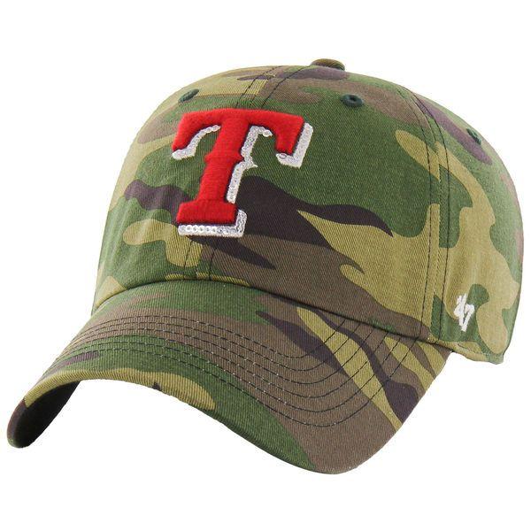 Women's Texas Rangers '47 Camo Rosita Clean Up Adjustable Hat 1