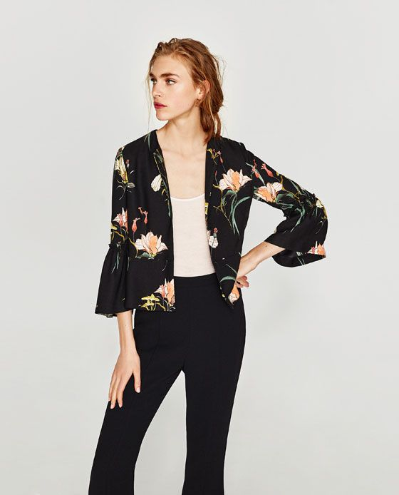 Image 2 of FLORAL PRINT BLAZER from Zara