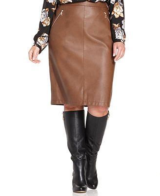 fb5ce750ab899 Charter club plus size faux leather pencil skirt on sale jpg 328x400 Plus  size white leather