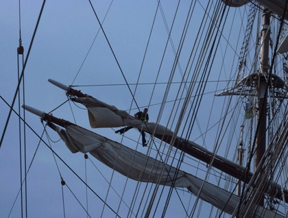 Sea Cloud: You never get tired of watching the crew in the rigging. Photo: Patrycja O'Brien©