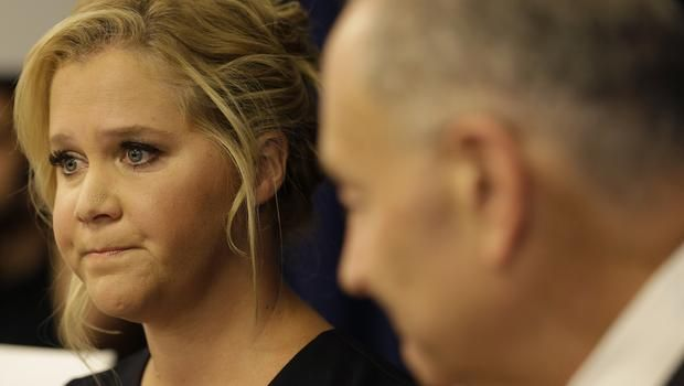 After a despicable person shot up a movie theatre in Lafayette, Louisiana, killing two, injuring nine others and then committing suicide during a showing of her first movie Trainwreck, Amy Schumer teamed up with New York Senator and distant cousin Chuck Schumer to call for action against gun violence and trying to get some common sense gun legislation.