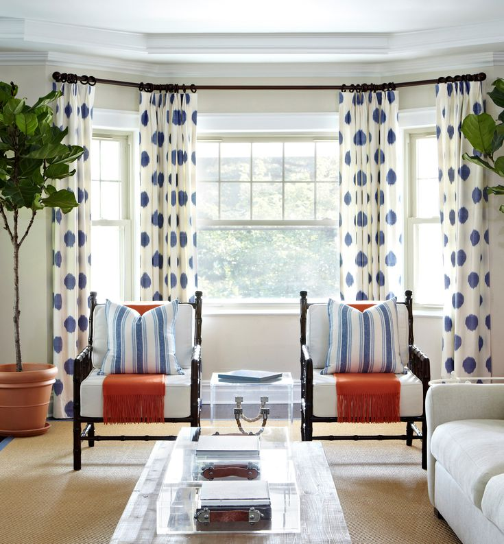 Plandome Dutch Colonial || Upholstered Bamboo Chairs || Chango & Co.