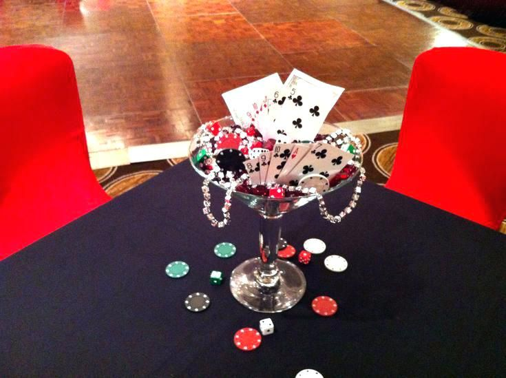 Diy Casino Themed Centerpieces Homey Ideas Casino Centerpieces