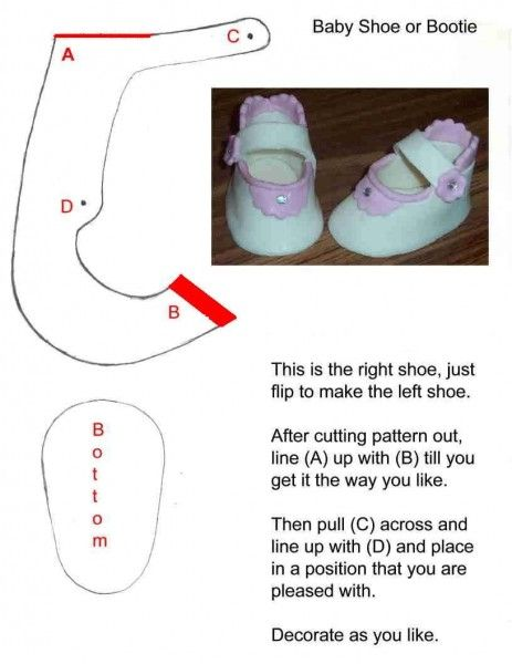 How to Make a Gumpaste Baby Shoes Tutorial on Cake Central
