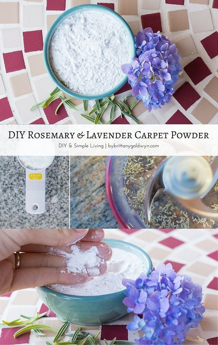 Check out my recipe for homemade rosemary & lavender deodorizing carpet powder...it makes your room smell amazing!