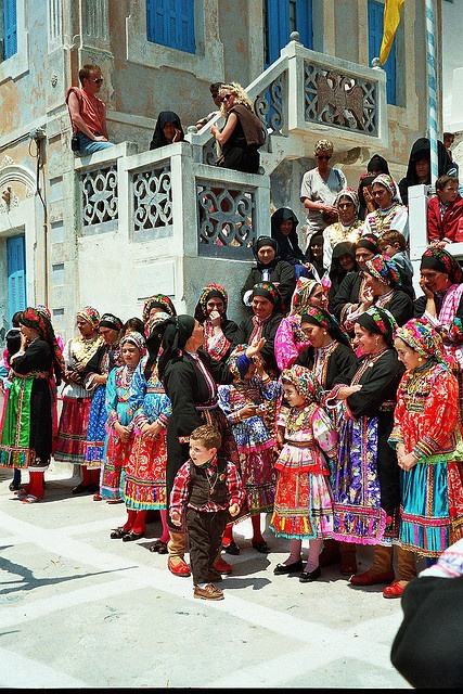 Easter festivities in Olympos; Karpathos