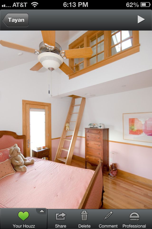Tayan wants a loft A LOT  and this one is super cute! I like the more tucked away ones..