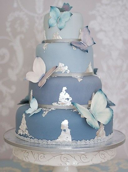 """Nancy Blue Wedding Cake"" by The Liggy's Cake Company the best wedding cake…"