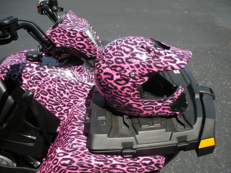 Girly Atv And Helmet Vehicle Wraps Pinterest Atv
