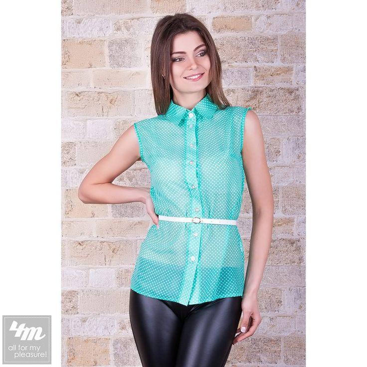 Блуза Glem «Сити2» Для выбора цвета и размера - перейдите в интернет-магазин: http://lnk.al/2CJe Состав: шифон горох (100% полиэстер) Размер: S  M   L