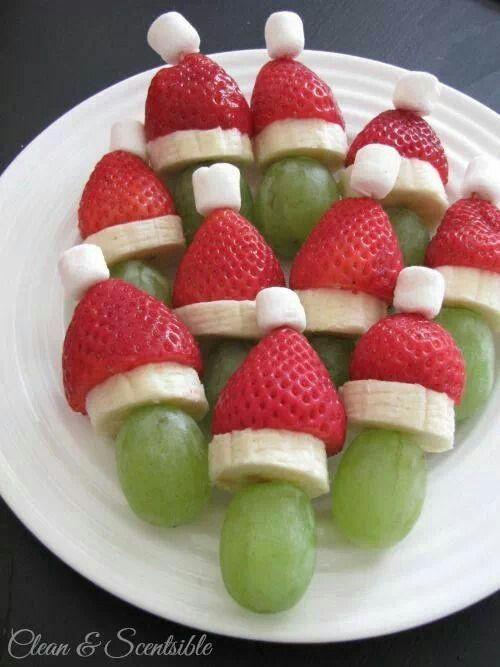 fruchtige Häppchen zu #Weihnachten, die mit rot und weiß, die typischen weihnachtlichen Farben tragen