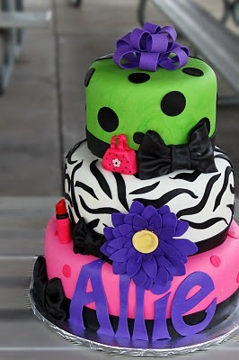 Bright & girly cake and even has my name !!!