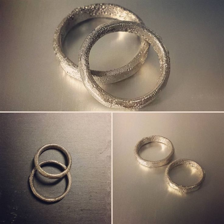 585 recycled white gold wedding rings
