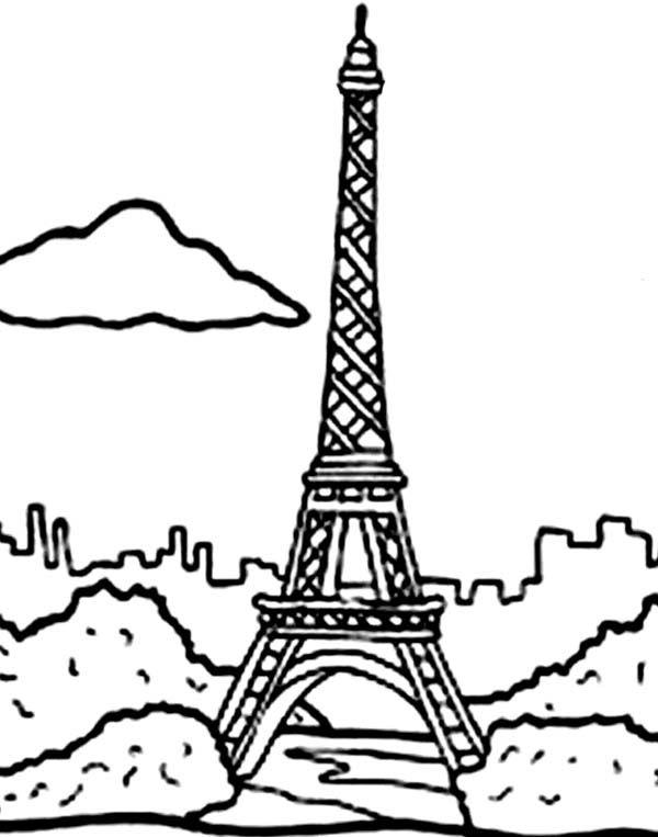 Desenhos Para Colorir Da Torre De Paris Torre Eiffel Paginas