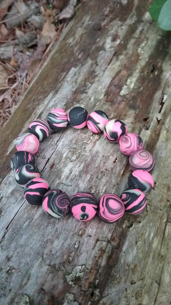 Check out this item in my Etsy shop https://www.etsy.com/listing/546145873/deez-beadz-black-pink-and-glow-in-the #pink #ooak #glow #semicolon #rave #handmade #etsy