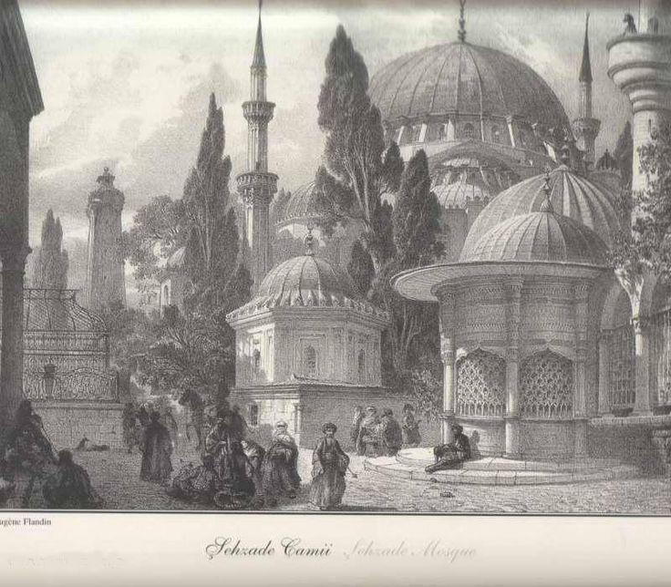 Gravürlerdeki Eski İstanbul -  Şehzadebaşı - İstanbul - Türkiye
