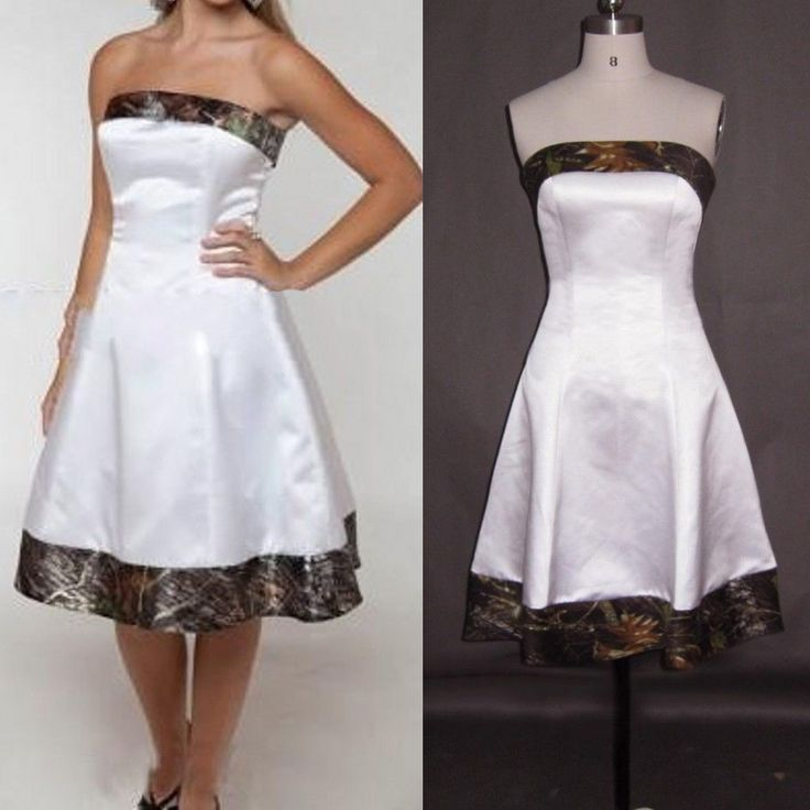 11 best Camo Wedding Dresses images on Pinterest | Short wedding ...