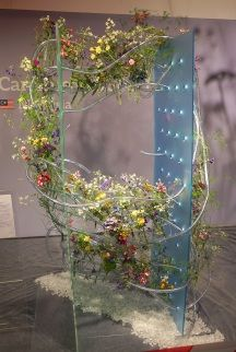 """Fleurop - Interflora World Cup Berlin Day 1. The first task, """"100% personal"""" was all about the finalists' personalities. Check out this design by Malaysian competitor Caroline Loo Sooi Hing, making off and interview on www.flowerweb.com..."""