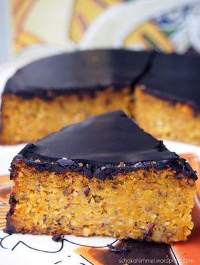 Super saftiger Kürbiskuchen mit Schokolade