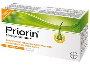 Bayer Priorin 120 capsules - PRIORIN capsules zijn speciaal ontwikkeld om de haarwortel te voeden. De capsules van PRIORIN bevatten een combinatie van natuurlijke ingredi�nten waaronder biotine. Biotine ondersteunt een gezonde haargroei van binnenuit en houdt je haar sterk. Je haar voelt sterk, vol en gezond aan. Het gezonde haar is stevig verankerd in de hoofdhuid.