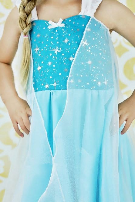 PRACTICAL PRINCESS ELSA DRESS This is a fun new PRACTICAL PRINCESS dress for your little girl. This dress has a sweetheart neckline, with ,